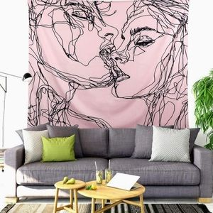 Tapestry Wall Hanging Pink Decor